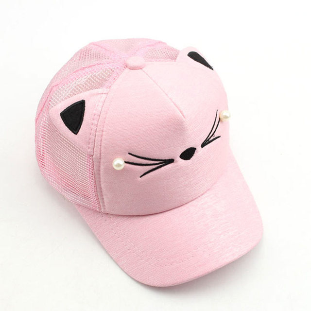 814930f4 Adjutable Snap back Cute Kitty Fancy Ball Cap Children Mesh Trucker Cap for  Girls,Blue