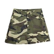 b31d32bc8 Plus Size Women Military Camouflage Design Skirt Streewear High Waist Sexy  Short A-line Skirts