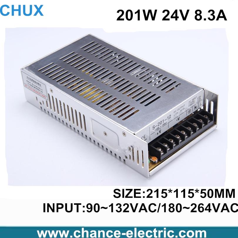 все цены на power supply 24v 201w ac to dc power supply ac dc converter high quality S-201-24(S-201W-24V) онлайн
