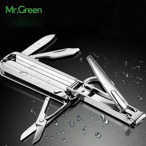 Image 2 - MR.GREEN Multifunctional nail clipper stainless steel belt finger file ring finger scissors belt bottle opener  plier scissorss
