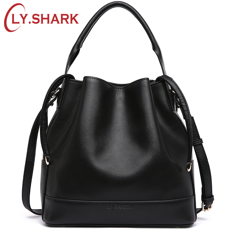 LY.SHARK Brand Luxury Handbags Women Bags Designer Crossbody Bags For Women Messenger Bag Genuine Leather Shoulder Bag Bucket ly shark crocodile cowhide leather women messenger bags luxury handbags women bags designer crossbody bags women shoulder bag