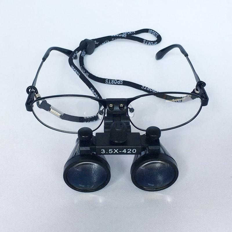 3.5 nagyítás cserélhető rövidlátó szemüveg fémkeret fogorvos - Mérőműszerek - Fénykép 6