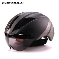 CAIRBULL Men Integrally Molded Cycling Helmet MTB Road Bike Helmet With Windproof Lens High Quality PC