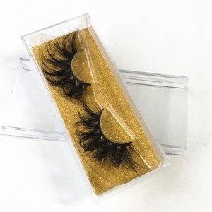 Image 4 - Cílios falsos do volume dos cílios postiços do falso dos cílios do falso dos cílios macios 25mm cílios naturais 3d da extensão dos cílios do vison