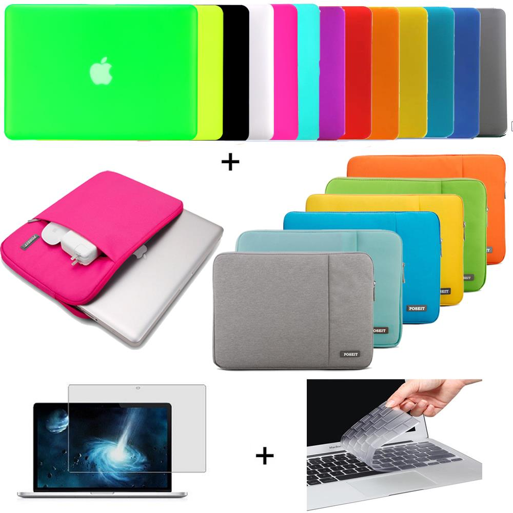 цена на POSEIT 4in1 Matte Hard case sleeve keyboard cover LCD FOR Macbook Pro Air Retina 11 12 13 15