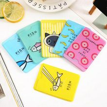2019 New 2 Layers Cute Student ID Card Sets Cartoon Fish PVC Card Holder Credit Students School Bus Business Cards Protector zebra zxp series 3c id card printer single sided for wedding cards business card student card