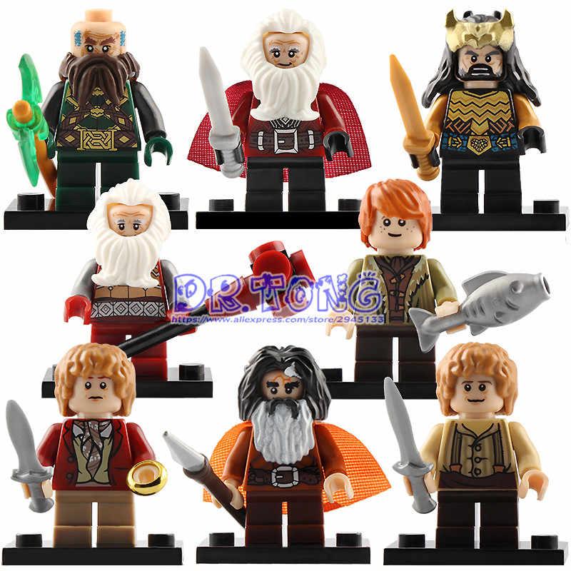 Venta única el Señor de los anillos figura de acción ladrillos bloques de construcción Frodo gandf Bilbo juguetes para niños regalos BR196