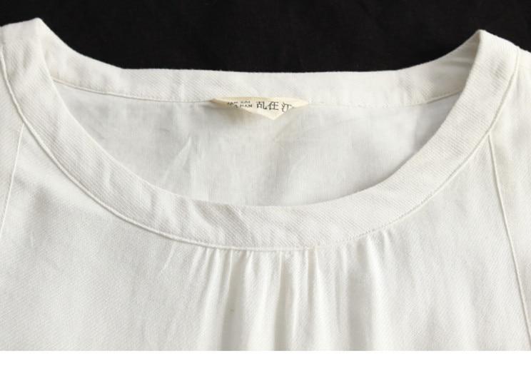 LZJN Cotton Linen Dress Women Casual Loose Summer Beach White Dresses Ladies Short Sleeve Maxi Long Vestido Robe Femme Plus Size (13)