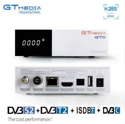 4K DVB-C DVB-T2 DVB-S2 Récepteur Satellite GTC android 6.0 TV DVB T2 DVBT2 Tuner cccam IPTV M3u Youtube Russe Décodeur