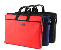 Red Blue Black Thick Canvas Briefcase Bag Woman Man Document Bag A4 Paper File Briefcase Handbag