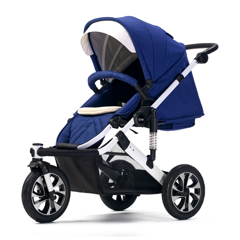 WLA New High Landscape Three-wheeled Baby Stroller Can Lie In Reversing Stroller Safe Baby Stroller To Make Mother More At Ease double stroller red pink blue color twins infant stroller sale kids sleep comfortable more at ease sophisticated technologies
