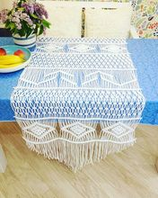 Macrame table runner-Christmas runners handmade boho style wedding BEIGE COLOR customized size home deocration