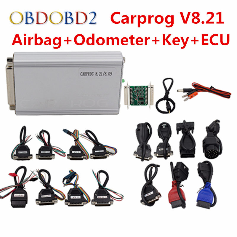 где купить Carprog Full Set V8.21/V10.0.5 Programmer Auto Repair Airbag Reset Tools Car Prog ECU Chip Tuning Full 21 Adapters Update Online по лучшей цене