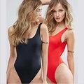 Женский купальный костюм, новый слитный купальник, черный и красный двухцветный женский купальник, пляжная одежда, купальный костюм