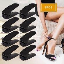 8 шт. домашний органайзер для обуви современный двойной чистящий стеллаж хранение обуви гостиная удобный Обувной Ящик для обуви Органайзер Подставка Полка