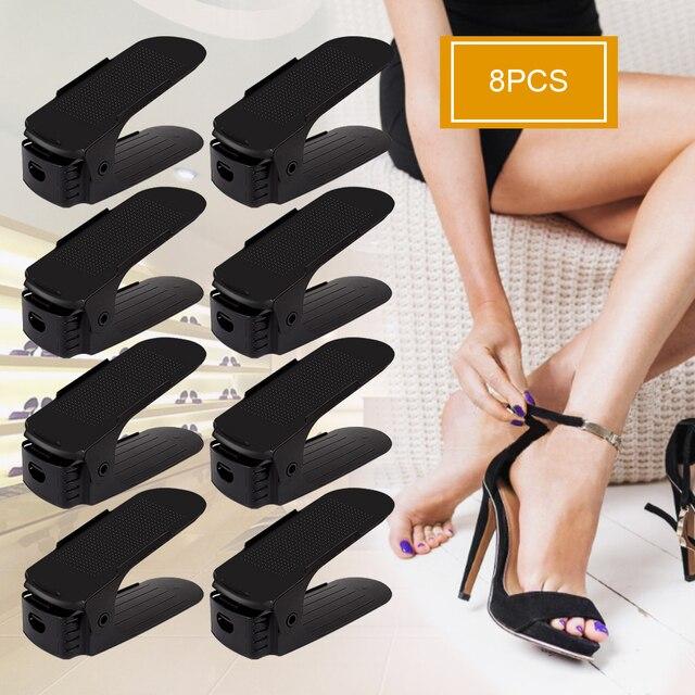 8 шт. домашний органайзер для обуви современный двойной чистящий стеллаж хранение обуви гостиная Удобная коробка для обуви Органайзер Подставка Полка