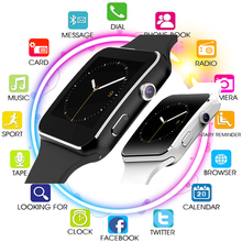 Smart Watch X6 Support SIM TF Card Women Men Smartwatch Bluetooth with Camera Touch Screen for IPhone Xiaomi Huawei Android IOS smart watch men women touch screen with bluetooth camera music play alloy men wrist smartwatch for android timing alarm clock