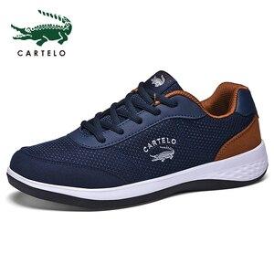 Image 4 - CARTELO أحذية رجالي رياضية الترفيه أحذية رجالي موضة الكورية الاتجاه شبكة تنفس خفيفة الوزن احذية الجري مريحة الرجال