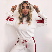 2 Pieces Yoga Sports Suits 2018 New Women Long sleeved Tracksuit Fitness Workout Sportswear Jogging Suit Leggings Gym Clothing