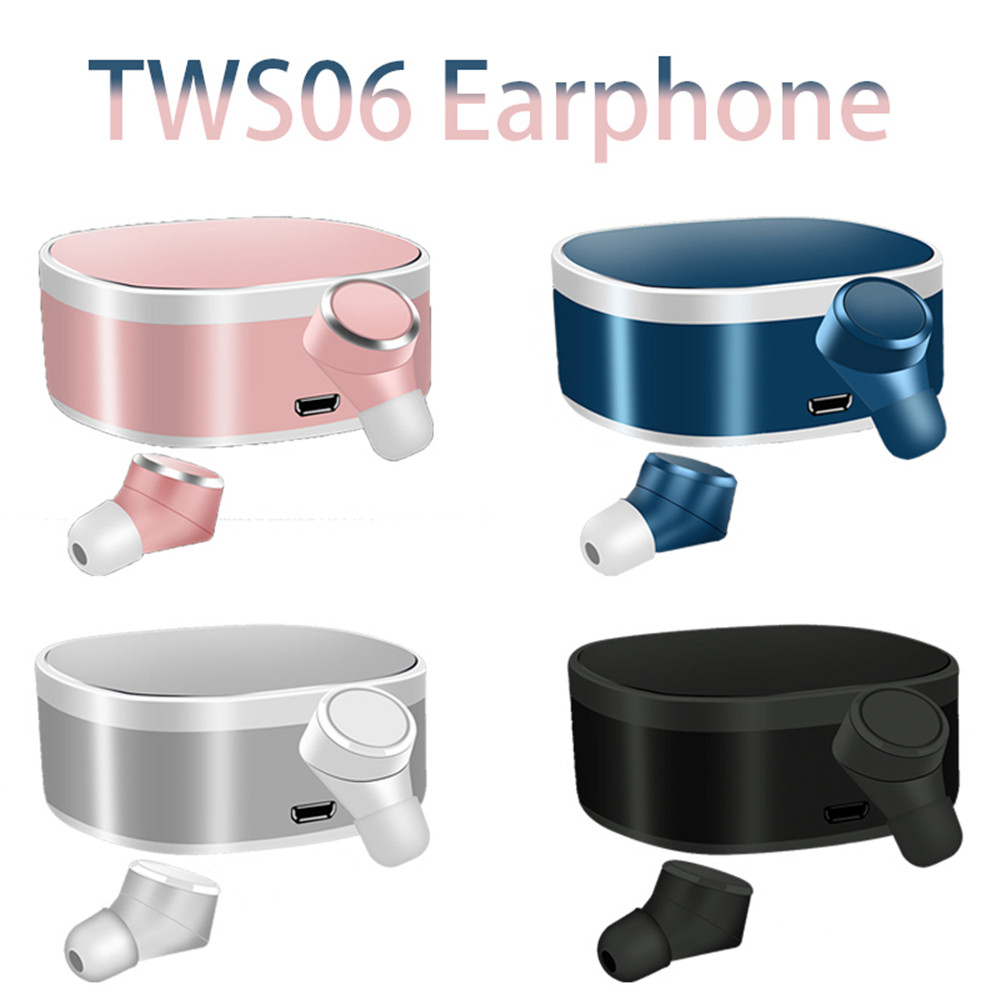US $27 62 6% OFF|TWS06 Wireless Earphone Bluetooth 5 0 Waterproof Noise  Reduction 6D Surround Sound Effect With Charging Box For Mobile Phone-in