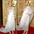 Popular Customized Made Blake Lively Red Carpet Dresses Evening Glitter White Applique Celebrity Dresses 2016 chiffon