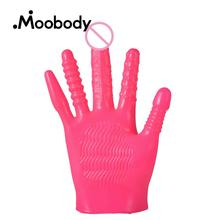 Multicolor Flirting Vibrating Glove Vagina Massager Clitoris Stimulator G-Spot Vibrator Gloves Adult Games Sex Toys For Couples