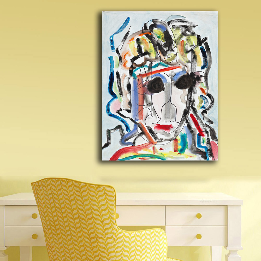 Fashion Abstract Oil Painting Bob Dylan Homesick Blues Home Decor On ...