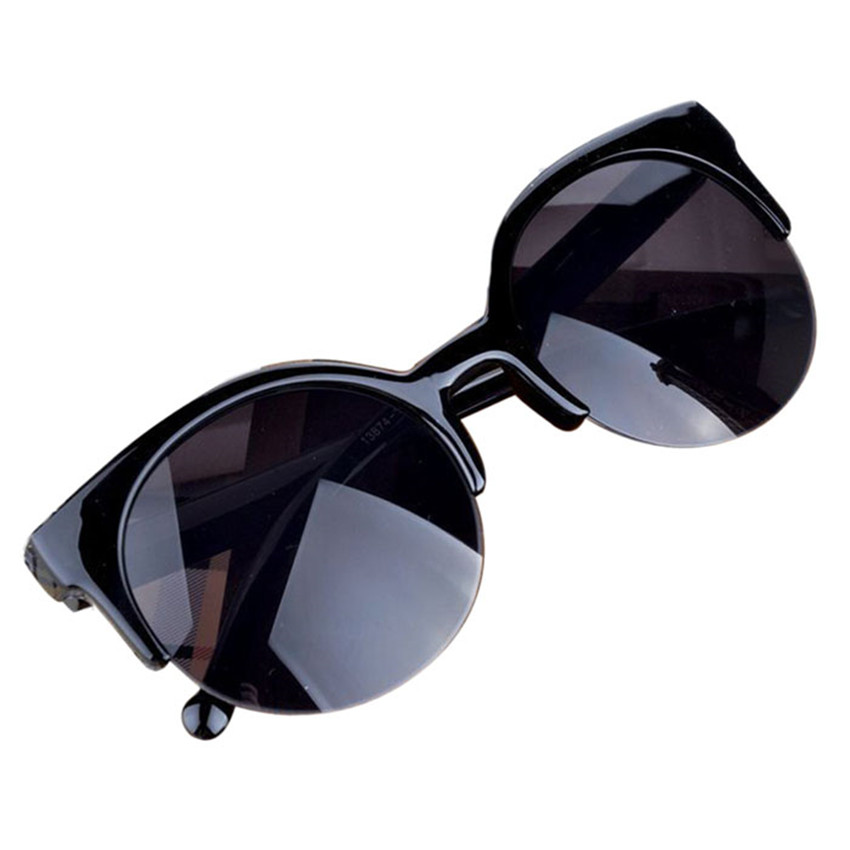 Party Gift Vintage Cat Eye Semi Rim Round Sunglasses for Men Women SunGlasses UV400 free shipping