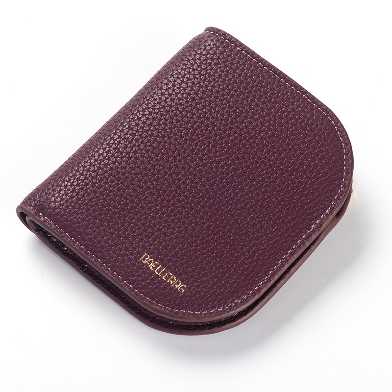 Women Wallet Purse  Litchi Pattern Hasp Short Style Closure Bank Card Money Bag More Card Slots Students Huge Capacity Fashion