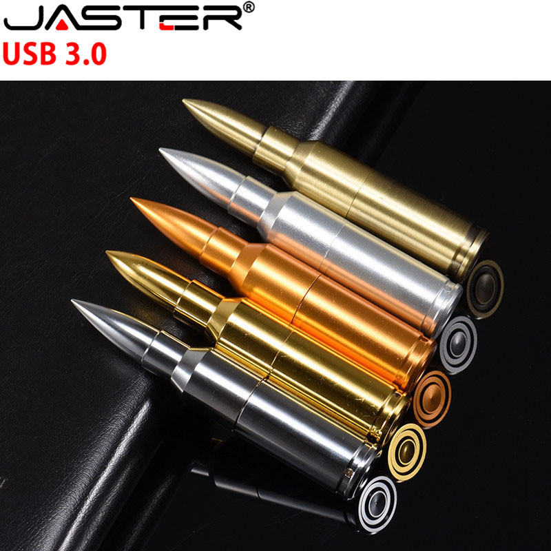 JASTER USB 3 0 Metal Pen Drive Bullet USB Flash Drive 4GB 8GB 16GB 32GB 64GB Flash Card Disk Flash Memory Stick With Key Chain in USB Flash Drives from Computer Office