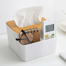 Креативный Многофункциональный бамбуковый Деревянный чехол коробка для салфеток настольные Предметы бытовой ящик для хранения офисный Органайзер коробка для салфеток