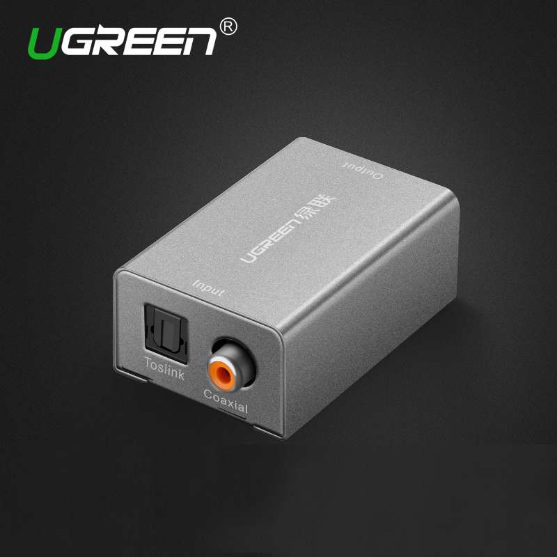Ugreen Digital to Analog Audio Adapter Optical Coaxial Toslink Audio Converter RCA L/R 3.5mm with DC5V/2A Adapter EU Plug кабели межблочные аудио silent wire digital 5 rca coaxial 2 0m