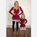 Autumn Mother daughter dresses matching mother daughter clothes party family look mom and daughter dress family matching clothes