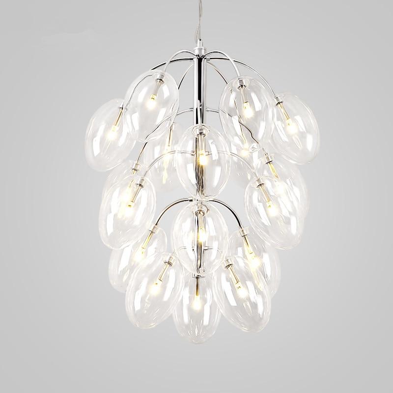 Nordic Pendant Light Glass Ball LED Pendant Lamp bar Hanging Lamp Kitchen Fixtures Suspension Modern Home Lighting