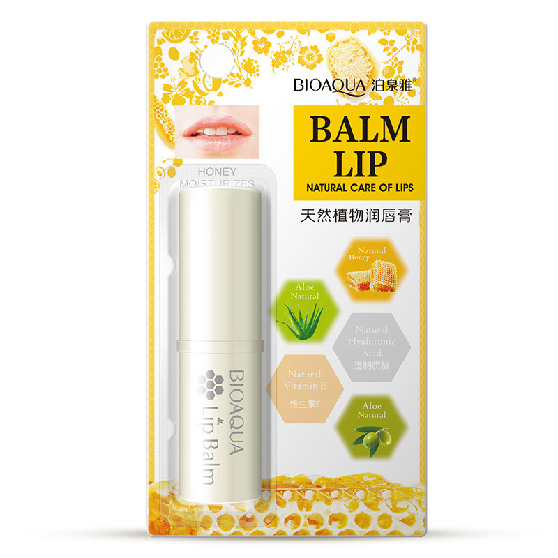 Honey Aloe Lip Balm Moisturizing Mild Brighten Lipbalm Makeup Colorless Refine Repair Wrinkles Women Skin Care 1
