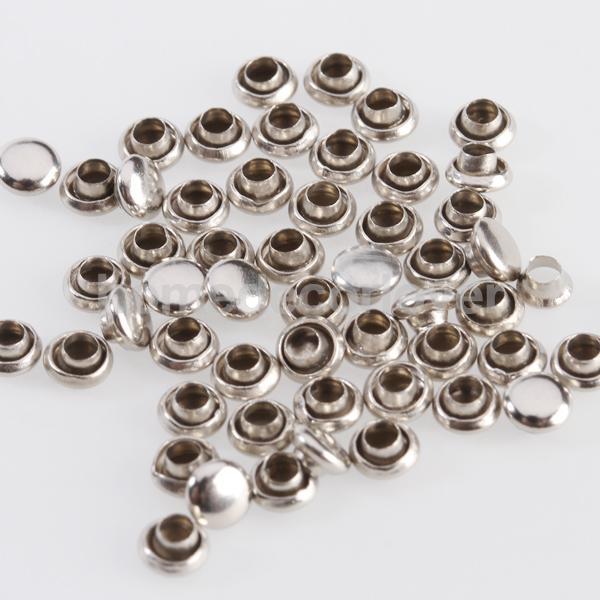 50 компл. серебряные круглые заклепки быстрое Стад 4 мм обувь сумки украшения Leathercraft
