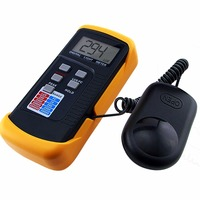 Digital Portable Lux Light Level Meter w/ Illuminance Detector Switchable to LUX & FC in 4 Ranges + 200k Lux Foot Candle FC LCD
