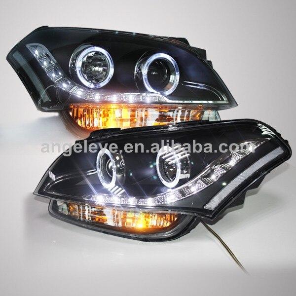 for kia soul led headlight angel eyes head lamp 2008 2011. Black Bedroom Furniture Sets. Home Design Ideas