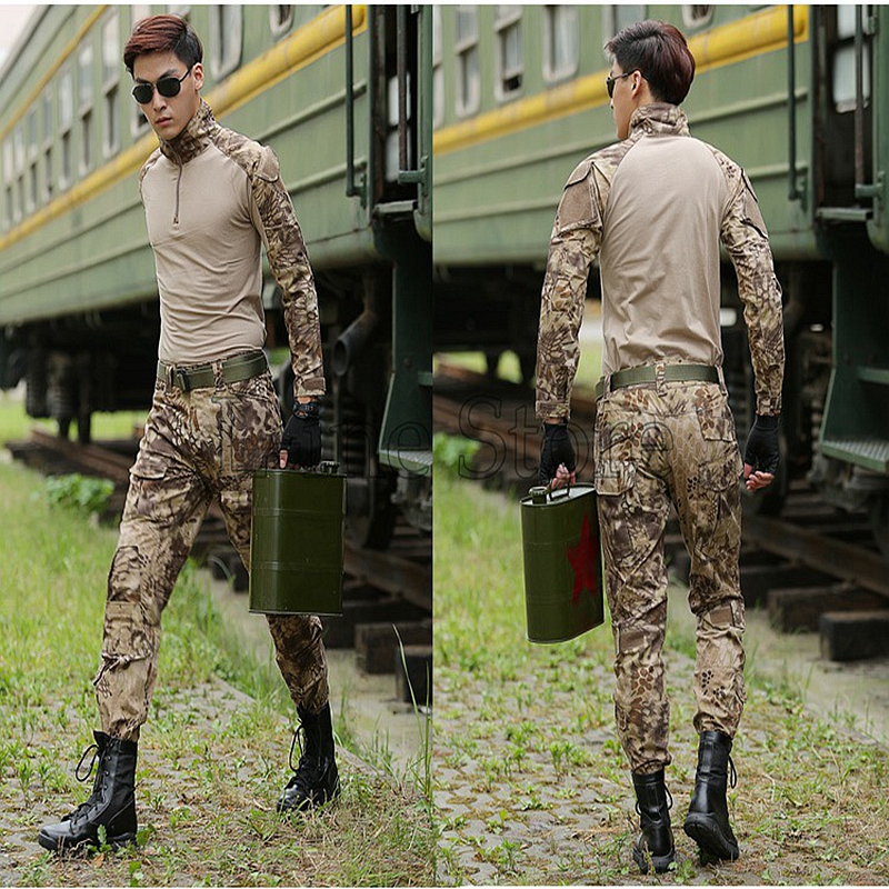 Gen2 Tactical Cargo Pants Shirt with Knee Pads Camouflage Uniform Clothing Combat Trousers Suit Training Army Military camouflage tactical military clothing paintball army cargo pants combat trousers multicam militar tactical shirt with knee pads