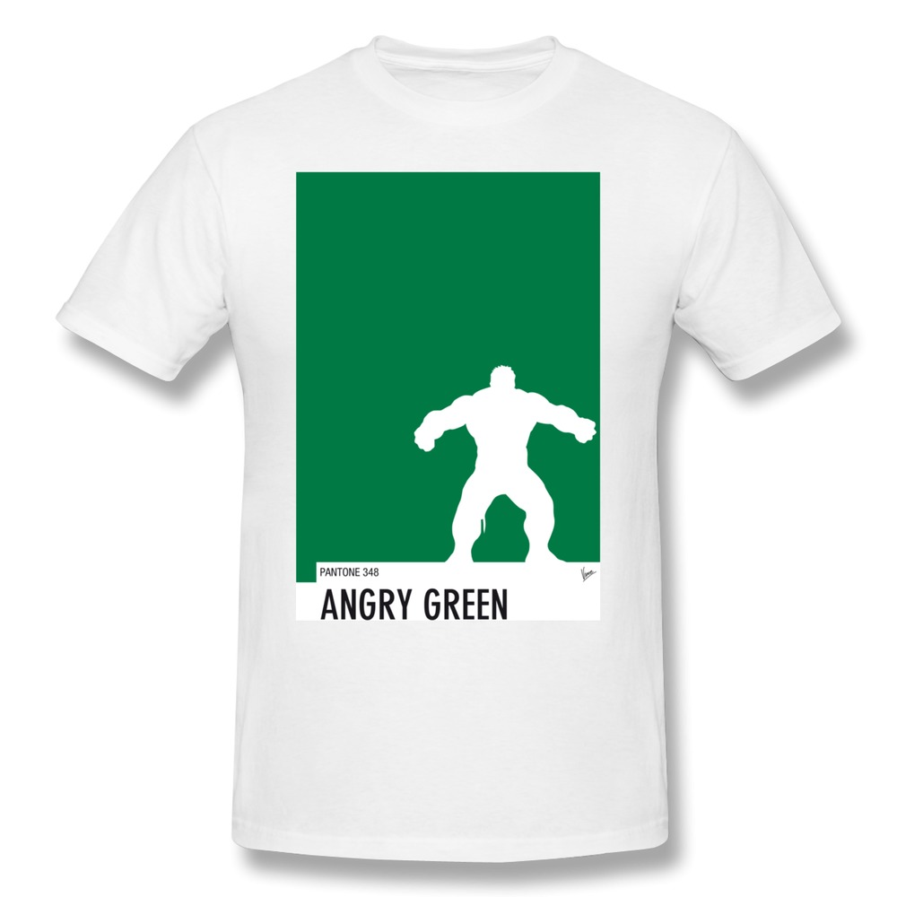US $21 0 |Custom 100% Cotton T Shirt Men's My Superhero 01 Angry Green  Minimal Pantone p Humor High School T Shirts Men Fashion Style-in T-Shirts  from
