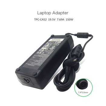 Genuine 19.5V 7.69A 150W 7.4*5.0mm Notebook AC Adapter For HP TPC-CA52 681058-001 697317-001 A150A01CH with Free Power Cord