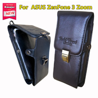 Men Leather Cell Phone Pouch Casual Ultra Thin Vertical Phone Case Phone Holder For ASUS ZenFone