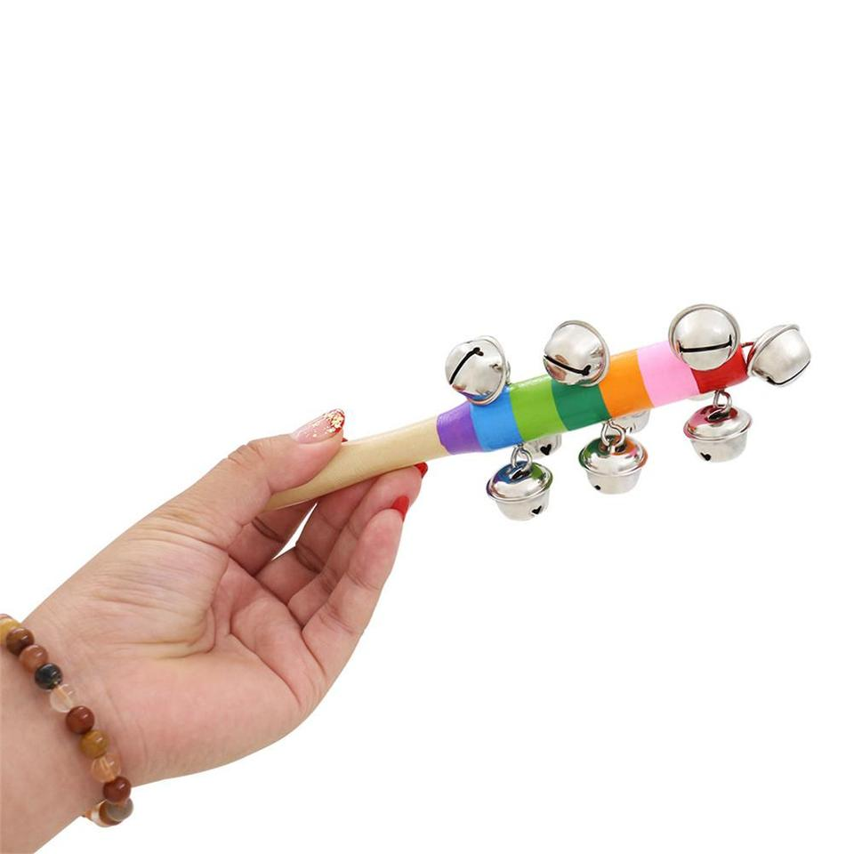 AKDSteel Colorful Wooden Bell Orff Instruments Baby Rattles Random Color for CE Accessories