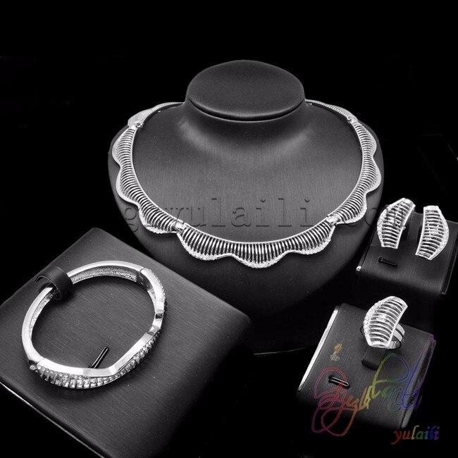 2015 hot sale ladies fashion jewelry sets bridal wedding jewelry necklace set silver-plated jewelry sets ювелирный набор jimore 2015 whol women fashion jewelry