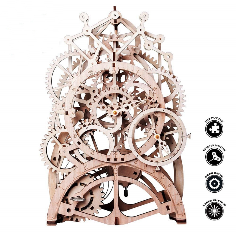 Creative Diy 3d Perpetual Calendar Wooden Mechanical Model Puzzle Game Assembly Toy Gift Calendar