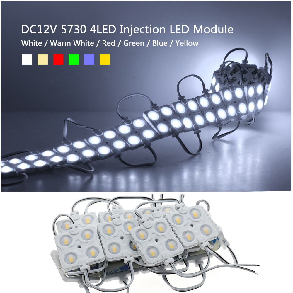 LED Module Strip 5730 4LEDs Waterproof DC12V for Outdoor Advertising Luminous Signs Lightbox DIY LED Module String 20Pcs Lot in LED Modules from Lights Lighting