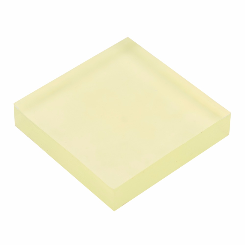 PANDAHALL Workbenches PU Damping Plate Polyurethane Square Die Cutter Beef Tendon Plate Cushion Elastic Rubber Sheet 10x10x2cm