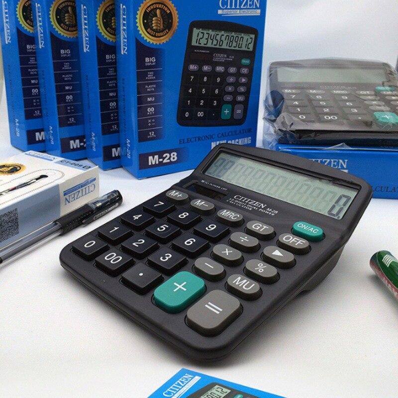12 разрядный большой Экран калькулятор Мода компьютер финансовый офис Бухгалтерия