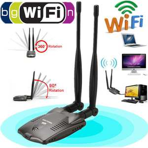 Usb-Wifi-Adapter Antenna Decoder Free-Internet Dual-Wifi Long-Range Ralink Wireless 3000mw