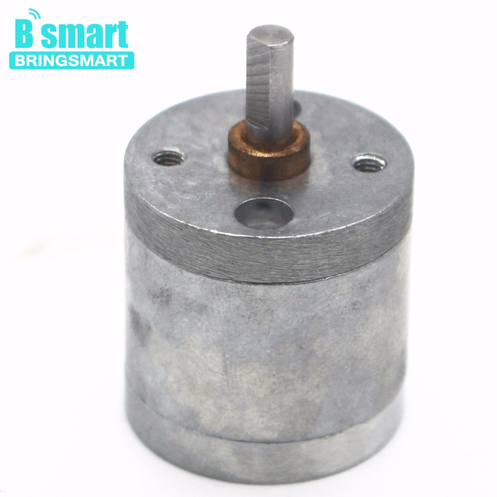 цена Free Shipping Bringsmart 25mm Diameter Gearbox Mini Motor Gear Case DC Reduction Box Micro Dc Motor Gearbox Reducer Casing